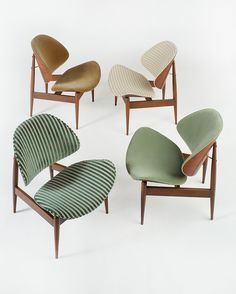 Seymour James Wiener Clam Chairs for Kodawood