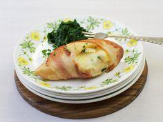 Dagens - Baconsurret kyllingfilet med spinat - Godt.no - Finn noe godt å spise