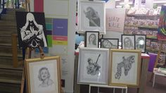 """Exhibition and mini """"how to"""" classes, at hobby craft, coventry, england"""