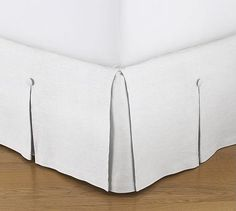 Pleated Button Bed Skirt #potterybarn   Master Bedroom, maybe cut one up to make tailored valances too?