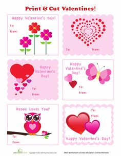 Worksheets: Homemade Valentines