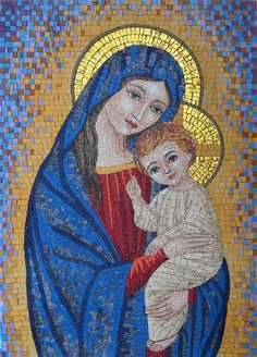 This is a fully handmade mosaic Icon of Vigrin Mary.  Inspired by the famous icon paintings, this mosaic consists of replicas of authentic old world iconic works.This mosaic piece will bring home a classic, yet timeless beauty, vibrant art and legendary history of sacred icons, Get it now for $360.