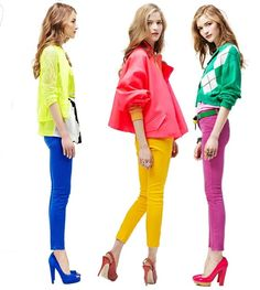 Excited to play with this trend through the summer season. Bright pants and colours = instant happy :)