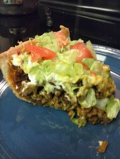 Taco Pie! Delicious, Fast, and Easy! ~ Frugal Mommy Christine #recipe #taco