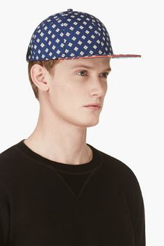 MARC BY MARC JACOBS Indigo Floral CHAMBRAY CAP