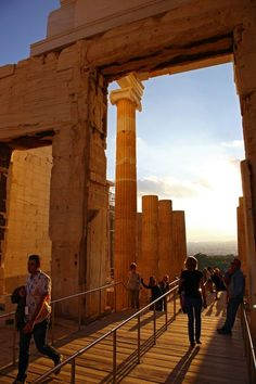 Sunset on the Acropolis Photo by Gabriel Cismondi — National Geographic Your Shot