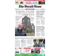 The front page of The Herald News for Monday, March 3, 2014. #fallriver