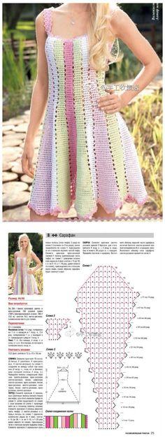 钩织 图解❤️裙子