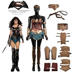 2016 Hot Movie Batman v Superman:Dawn of Justice Wonder Woman Cosplay Costume Custom Made For Halloween