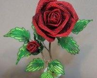 Tutorial Как сделать красивую розу из бисера?