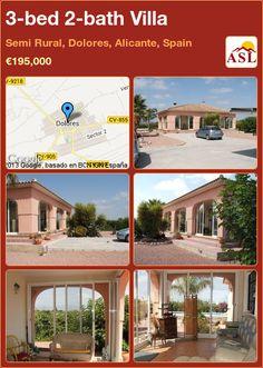 3-bed 2-bath Villa in Semi Rural, Dolores, Alicante, Spain ►€195,000 #PropertyForSaleInSpain