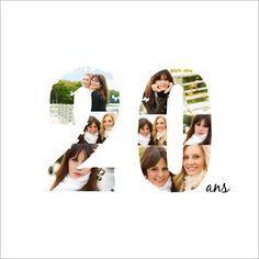 Carte invitation anniversaire 20 ans : Déjà deux décennies sur cette Terre… ça se fête, non ? A partir de 0.62€ sur Popcarte.com