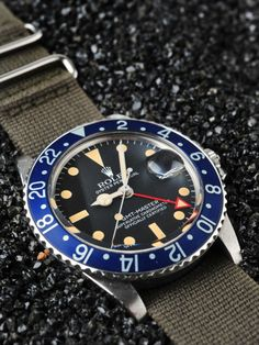 Awesome Rolex GMT Master with Nato strap #vintage watch #rolex