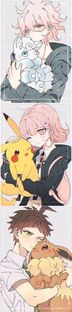 Best Crossover, Anime Crossover, Danganronpa Game, Danganronpa Characters, Anime Fnaf, Kawaii Anime, Cute Characters, Anime Characters, Pink Blood