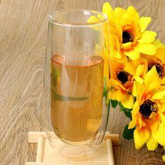 Healthy 150ml Double Wall Glass Cup Heat Resistance Double Layer Glass Kungfu Tea Cup Coffee Milk Juice Drink Mug Mini Teapot #Affiliate