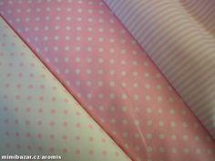 látka metráž RŮŽOVÁ VARIACE - 50 cm obě puntíkaté látky Wallet, Purses, Diy Wallet, Purse