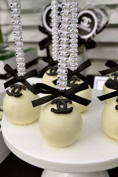 Rhinestone Embellished Chanel Cake Pops