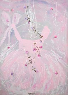 Tutù & Flowers di Marilena Lacchinelli Paintings - Artist Painter - Milano