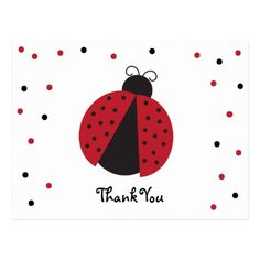 Shop Cute Lady Bug Birthday Thank You Postcard created by LizziesCloset. Personalize it with photos & text or purchase as is! Red Birthday Party, Baby Girl Birthday, Birthday Thank You Cards, Happy Birthday Images, Appreciation Quotes, Thank You Postcards, Custom Thank You Cards, Cute Woman, Postcard Size