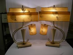 1950s Majestic Mfg. Lamps...Fiberglass Shades