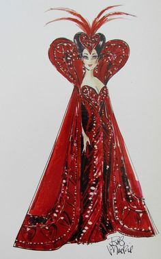 Bob Mackie Queen of Hearts Barbie Illustration