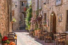 Tipico ristorante italiano nel vicolo storico Vlies Fototapeten