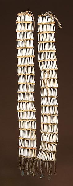 Northern Plains Dentalium Shell Earrings, (2008, American Indian and Western Art, April 5th,)