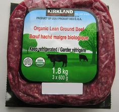 Product Recall - Costco - Kirkland Signature brand Organic Lean Ground Beef