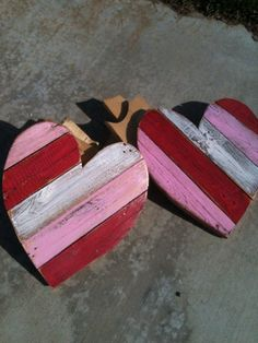 Wooden pallet heart sm by DoodlesbyDiana on Etsy