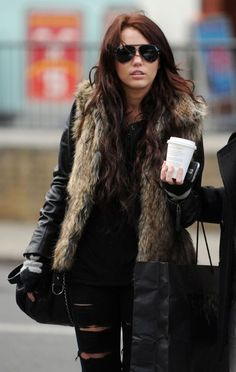 Miley Cyrus in London during her Wonder World tour 2009