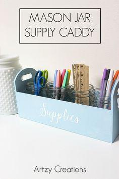 Mason Jar Supply Caddy.