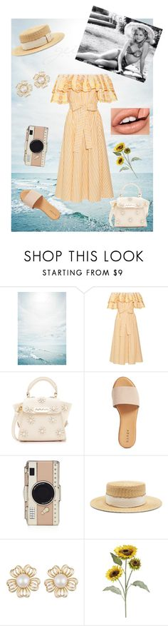 """""""Spring Is Here"""" by carotomboy ❤ liked on Polyvore featuring Gül Hürgel, ZAC Zac Posen, Hinge, Kate Spade, Filù Hats and Pier 1 Imports"""