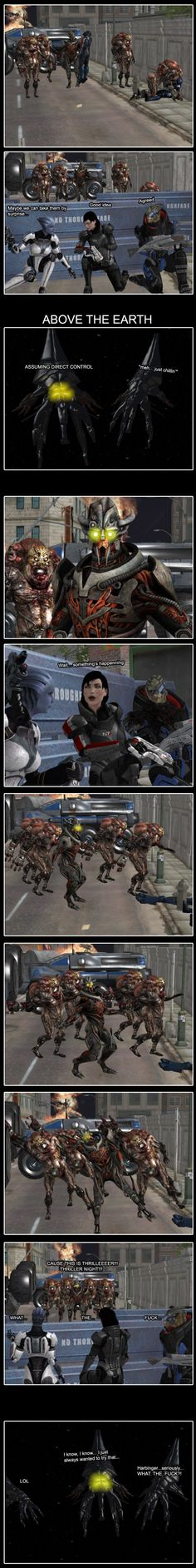 Harbinger has always wanted to try this... #ME #masseffect