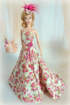 "Silkstone BArbie https://flic.kr/p/gZNVz5 | La Reine des Roses | BFMC ""The Artist"" Etsy listing for the dress: www.etsy.com/listing/167036782/la-reine-des-roses-for-sil..."