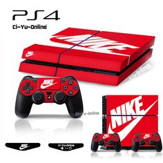 [PS4] Nike Logo Shoe Box Red VINYL SKIN STICKER DECAL Sony Console Controllers | Video Games & Consoles, Video Game Accessories, Faceplates, Decals & Stickers | eBay!