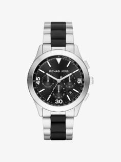 053f621f4d3 Gareth Silver-Tone and Silicone Watch by Michael Kors Relógio Michael Kors