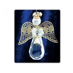 2 Gold Teardrop Angels - Bead Christmas Craft Kit