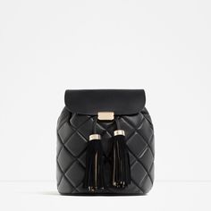 Image 2 of QUILTED TASSEL BACKPACK from Zara