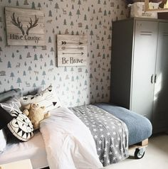 Into the Wild wallpaper by Hibou Home. Room design by Artspace Interiors