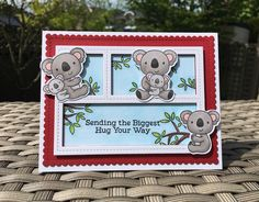 Hello my friends and welcome back. Here is another one of the cards I made using the Cuddly Koalas stamp set from MFT Stamps. For this ca...