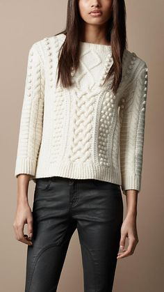 Cable Knit Sweater   Burberry