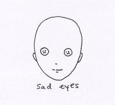 sad, eyes, and sad eyes image Mini Drawings, Art Drawings Sketches, Tattoo Drawings, Pastell Wallpaper, Dessin Old School, Arte Indie, Arte Sketchbook, Flash Art, Hippie Art