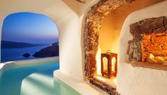 River Pool suite - incredible Canaves Oia Suites in Santorini