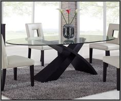 2015 glass dining room table #31768