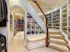 """"""" Today, the walk-in closet is a must-have on many buyers' wish list. Some homeowners are paring down a four-bedroom home to three by transforming one bedroom into an oversized walk-in closet."""" - 5 Things Home Buyers Want In 2013 from Forbes"""