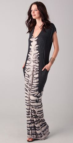 fc6a599549 Raquel Allegra Tie Dye Caftan Dress