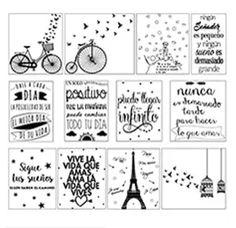 12 Etiquetas Para Frascos, Frases, Vinilo Transparente - $ 75,00