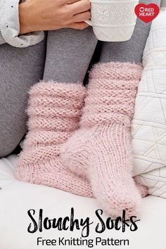 Slouchy Socks free knit pattern in Hygge yarn. These ultra-cozy socks are just t. Knitting , Slouchy Socks free knit pattern in Hygge yarn. These ultra-cozy socks are just t. Slouchy Socks free knit pattern in Hygge yarn. These ultra-cozy so. Knitting Socks, Knitting Stitches, Knitting Patterns Free, Knit Patterns, Free Knitting, Knitted Socks Free Pattern, Knitting And Crocheting, Stitch Patterns, Simple Knitting