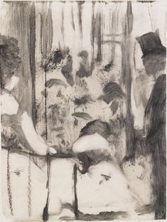 Edgar Degas, Dancers Coming from the Dressing Rooms onto the Stage, proposed illustration for The Cardinal Family, ca. 1876–77, pastel over monotype on paper, 8⅜ × 6¼ inches. SCHORR COLLECTION