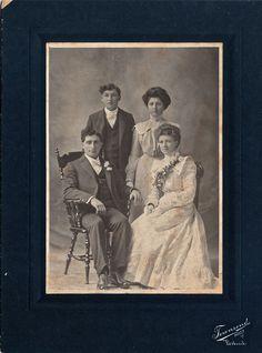 Antique American PHOTO CABINET CARD - Wedding , circa 1880 - 1900. $6.95, via Etsy.